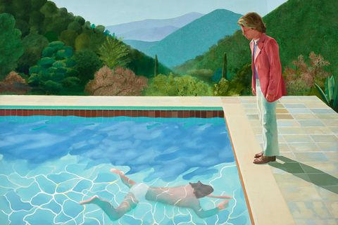 Portrait of an Artist Pool with Two Figures 1971, David Hockney