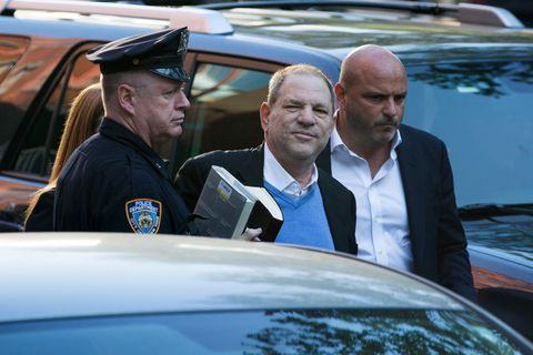 Harvey Weinstein hands himself in at a New York Police station
