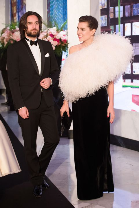 Dimitri Rassam and Charlotte Casiraghi  at the Rose ball